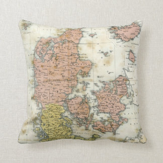Antique map of Denmark Cushion