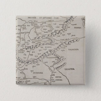 Antique Map of Eastern Europe 15 Cm Square Badge