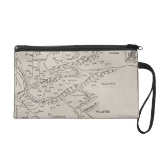 Antique Map of Eastern Europe Wristlet Clutch