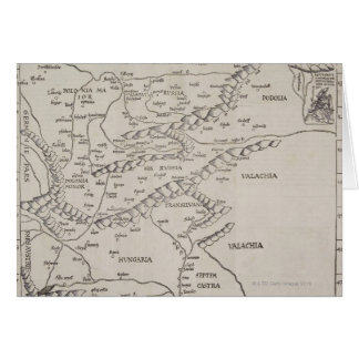 Antique Map of Eastern Europe Card