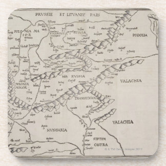 Antique Map of Eastern Europe Coaster