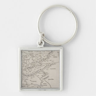 Antique Map of Eastern Europe Key Ring