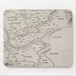 Antique Map of Eastern Europe Mousepads