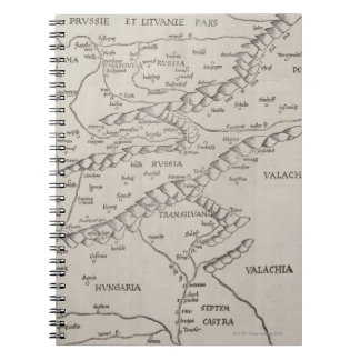 Antique Map of Eastern Europe Note Books