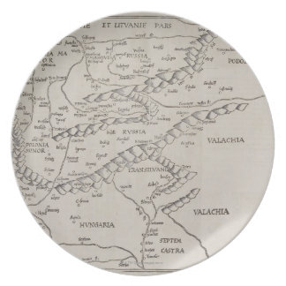 Antique Map of Eastern Europe Plate