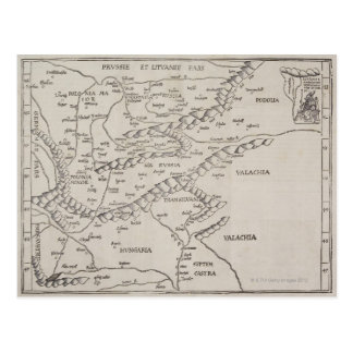 Antique Map of Eastern Europe Postcard