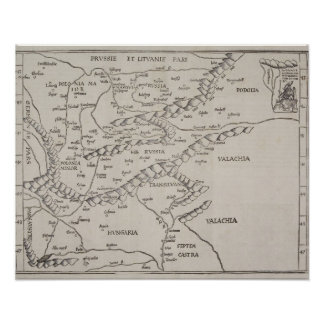 Antique Map of Eastern Europe Print
