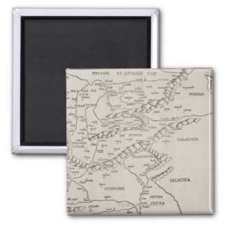 Antique Map of Eastern Europe Square Magnet