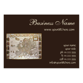 Antique Map of Europe, c1617 by Willem Jansz Blaeu Business Card Template