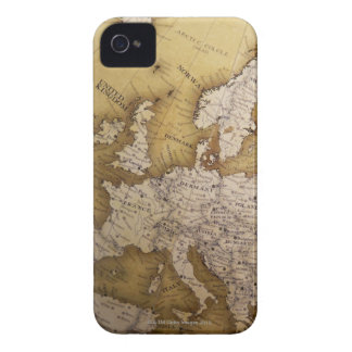 Antique map of europe. Old world. iPhone 4 Case-Mate Case