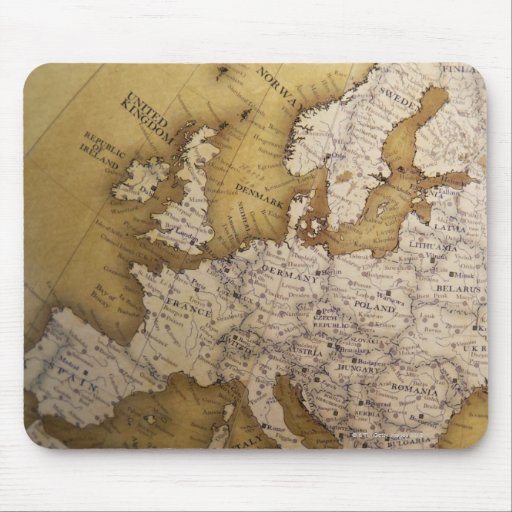 Antique map of europe. Old world. Mousepads