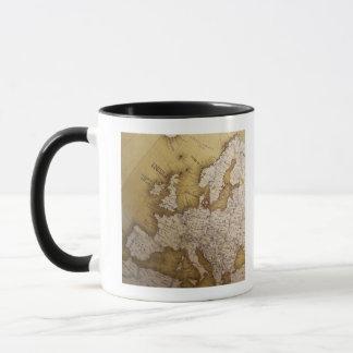 Antique map of europe. Old world. Mug