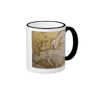 Antique map of europe. Old world. Mugs