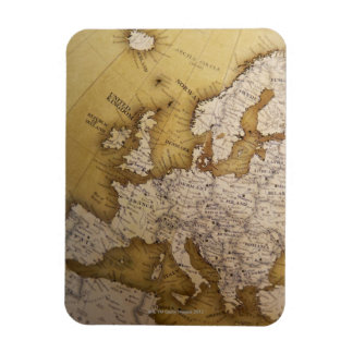Antique map of europe. Old world. Rectangular Magnets