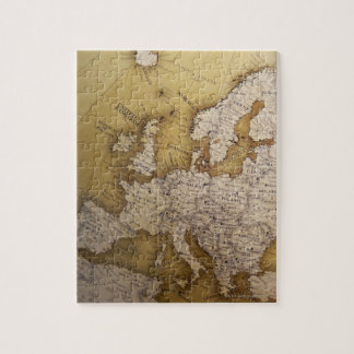 Antique map of europe. Old world. Puzzles