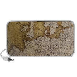Antique map of europe. Old world. Mini Speaker