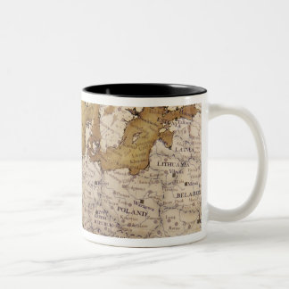 Antique map of europe. Old world. Two-Tone Coffee Mug