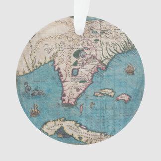 Antique Map of Florida and Cuba Ornament
