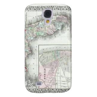 Antique Map of Florida & Mobile, Alabama Samsung Galaxy S4 Cover