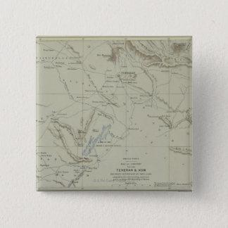 Antique Map of Iran 15 Cm Square Badge