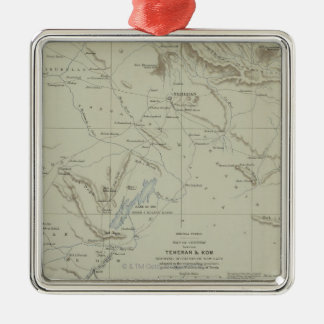 Antique Map of Iran Christmas Ornament