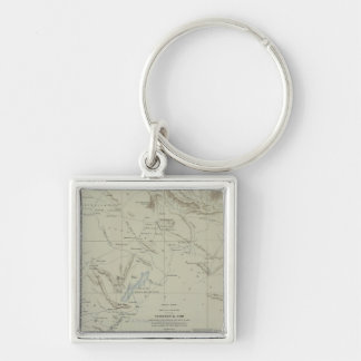 Antique Map of Iran Key Ring