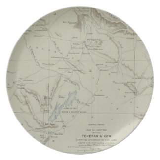 Antique Map of Iran Plate