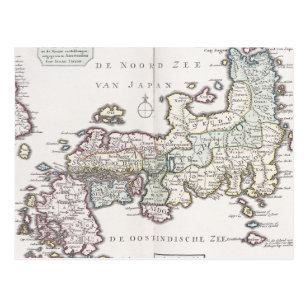 Antique Map of Japan   1769 Postcard