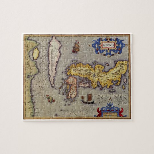 Antique Map of Japan by Mercator and Hondius,