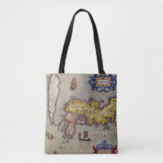 Antique Map of Japan by Mercator and Hondius, 1606 Tote Bag