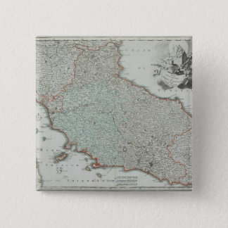 Antique Map of Lazio, Italy 15 Cm Square Badge