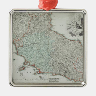 Antique Map of Lazio, Italy Christmas Ornament