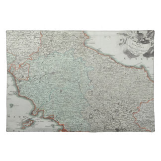 Antique Map of Lazio, Italy Place Mats