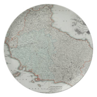 Antique Map of Lazio, Italy Plate