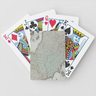 Antique Map of Lazio, Italy Poker Deck