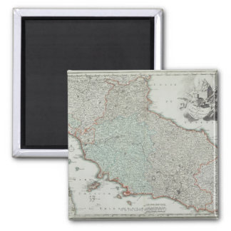 Antique Map of Lazio, Italy Square Magnet