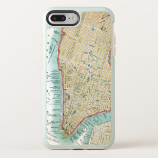 Antique Map of Lower Manhattan and Central Park OtterBox Symmetry iPhone 8 Plus/7 Plus Case