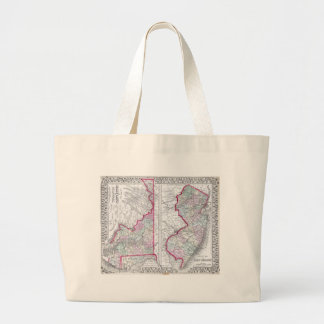 Antique Map of Maryland New Jersey Delaware Canvas Bag