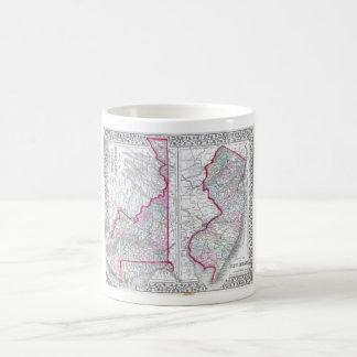 Antique Map of Maryland, New Jersey, & Delaware Basic White Mug