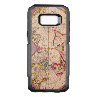 Antique Map of North and South Hemispheres OtterBox Commuter Samsung Galaxy S8+ Case