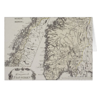 Antique Map of Norway Card