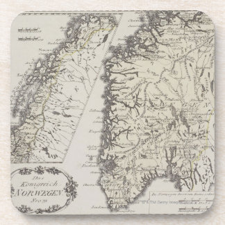 Antique Map of Norway Coaster