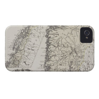 Antique Map of Norway iPhone 4 Case-Mate Case