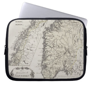 Antique Map of Norway Laptop Sleeve