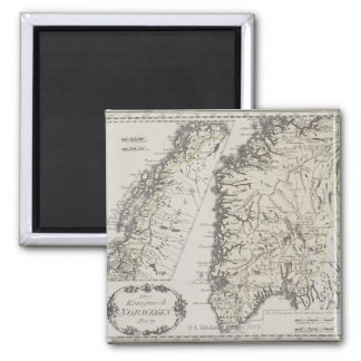 Antique Map of Norway Magnet