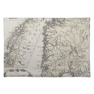 Antique Map of Norway Place Mats