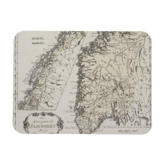 Antique Map of Norway Rectangular Photo Magnet