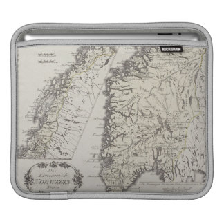Antique Map of Norway Sleeve For iPads