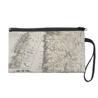 Antique Map of Norway Wristlet Clutch