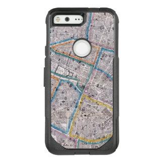 Antique Map of Paris OtterBox Commuter Google Pixel Case
